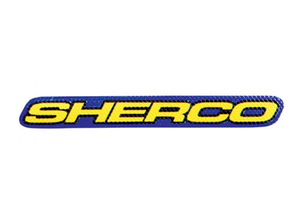Sherco matrica kék