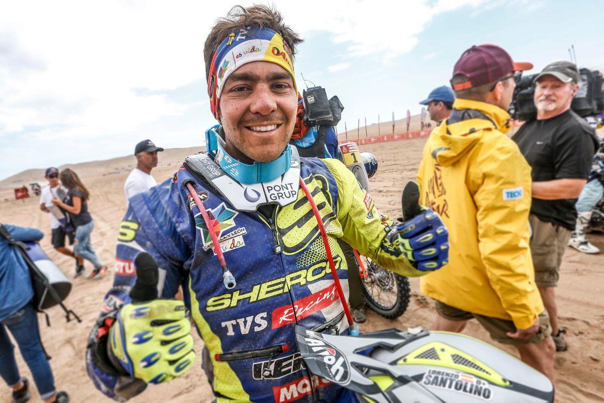 Lorenzo Santolino kiemelkedo helyezese a maratoni 2019-es Dakar szakaszon (1)