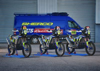 A történelmi sikert elérő Sherco 450 SEF Rally Factory motorok