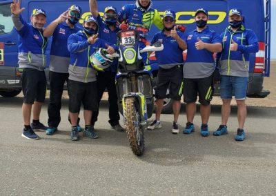 Harith Noah és a Sherco csapat - Dakar 2021