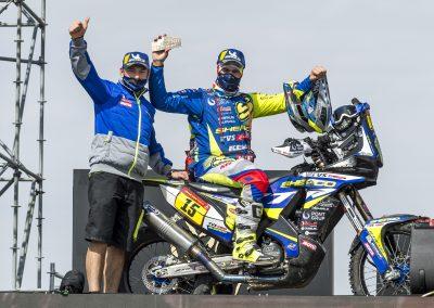 Lorenzo Santolino történelmi 6. helyezést ért el összetettben a 2021-es Dakaron