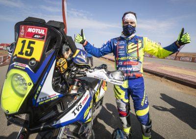 Santolino és motorja, a Sherco 450 SEF Rally - Dakar 2021