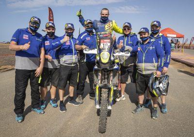 Rui Goncalves és a Sherco csapat - Dakar 2021